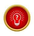 Hypothesis icon simple style vector image