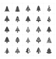 icon set - christmas tree filled icon vector image vector image