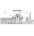 Italy milan architecture line skyline