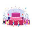 kids birthday party children celebration friends vector image vector image