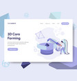 landing page template of 3d core forming concept vector image vector image