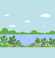 landscape from fantasy compositions sea vector image vector image