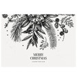 merry christmas greeting card or invitation vector image vector image