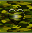 military camouflage heart vector image