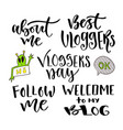 modern lettering set inspirational hand lettered vector image vector image