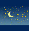 night sky background stars and moon can be used vector image