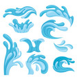 ocean or sea waves set water splashes design vector image
