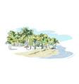 palm beach sketch landscape line skyline vector image