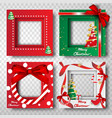 paper art and craft of merry christmas border vector image vector image