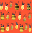 pineapples fantasy seamless pattern it is located vector image vector image