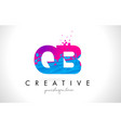 qb q b letter logo with shattered broken blue vector image vector image