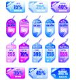 sale price tags vector image vector image