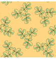 Seamless pattern made from rose leaves vector image vector image
