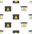 seamless pattern with car battery isolated on vector image vector image