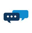 speech bubbles message chat talk concept vector image vector image
