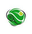 tennis sport club racket and ball icon vector image