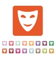 The smiling mask icon Comedy and theater symbol vector image vector image