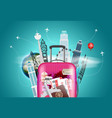 travel destination concept with bag vector image vector image