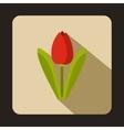 Tulip icon flat style vector image