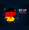 virus around germany vector image vector image