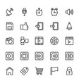 web and mobile ui line icons 9 vector image