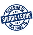 welcome to sierra leone blue stamp vector image vector image