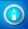 white glass bottle with a pipette icon isolated vector image