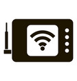 wifi remote control icon simple style vector image