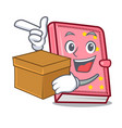 with box diary character cartoon style vector image vector image