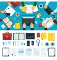 Business teamwork over the project vector image