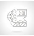 Cinema reel detailed line icon vector image