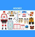 hockey ice sport equipment game player garment vector image