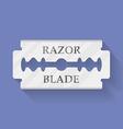 Razor blade icon symbol Flat style vector image