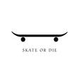 skate icon in black vector image
