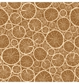 Wood logs cuts seamless pattern background vector image
