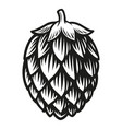 a black and white hop vector image vector image
