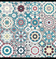 a set of multicolor tiles vector image