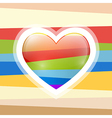 Abstract Retro Heart vector image vector image