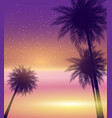 abstract summer natural palm background vector image vector image
