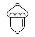 acorn thin line icon oak vector image