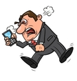 Angry businessman screaming 2 vector image vector image