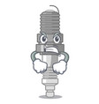 angry spark plug isolated with the mascot vector image vector image