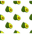 avocado whole and slice seamless pattern vector image vector image