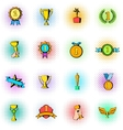 Award icons set comics style vector image vector image