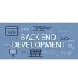 Back end Development Banner Concept vector image vector image