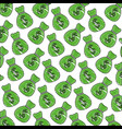 bag money dollar currency bank pattern vector image