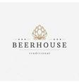 Beer hop logo or badge design element