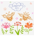 bees two vector image vector image