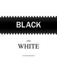 black and white with horizontal line vector image