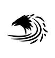black raven sign vector image vector image